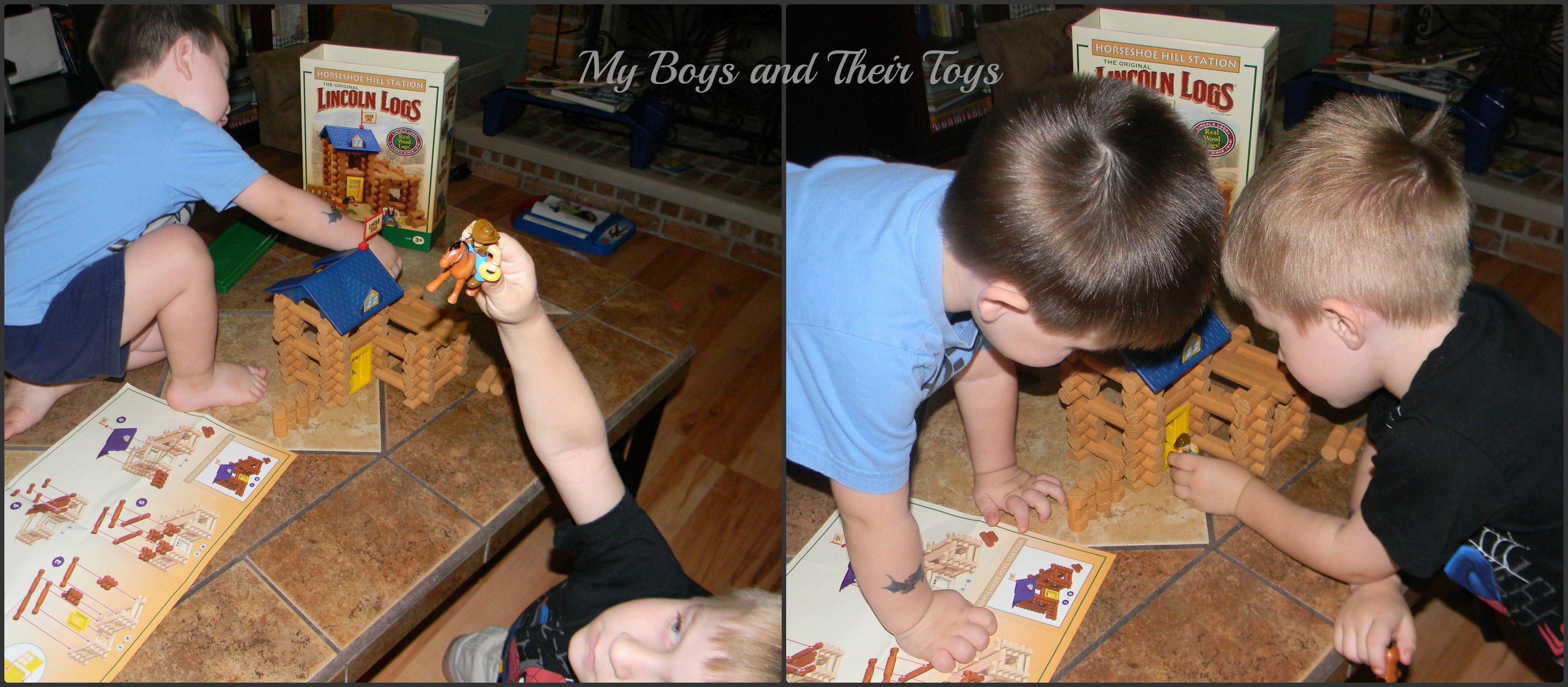 Boys And Their Toys : K nex lincoln logs review giveaway spon