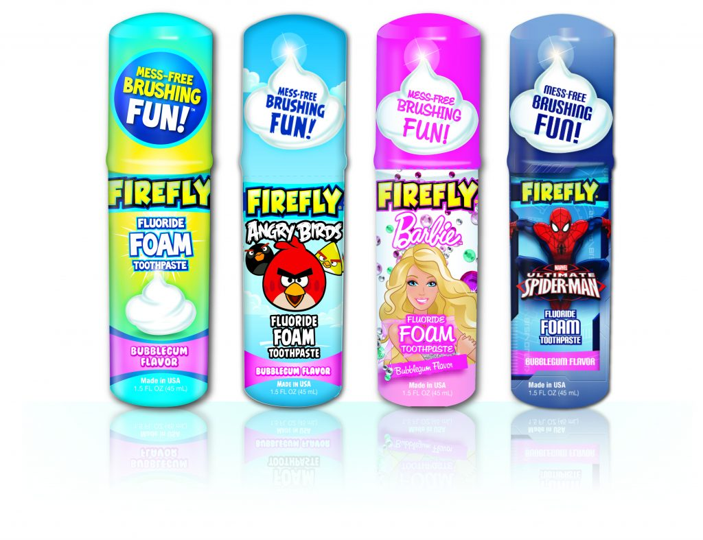 Kids Toothpaste And Toothbrush Fire Fluoride Foam Toothpaste