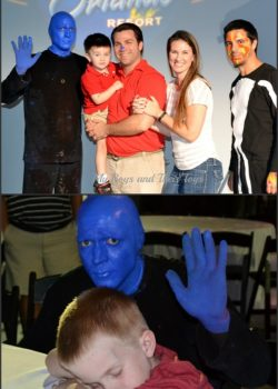Blue Man show meet-greet