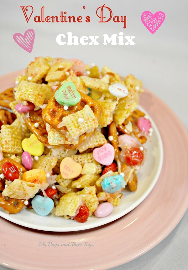 valentines day chex mix