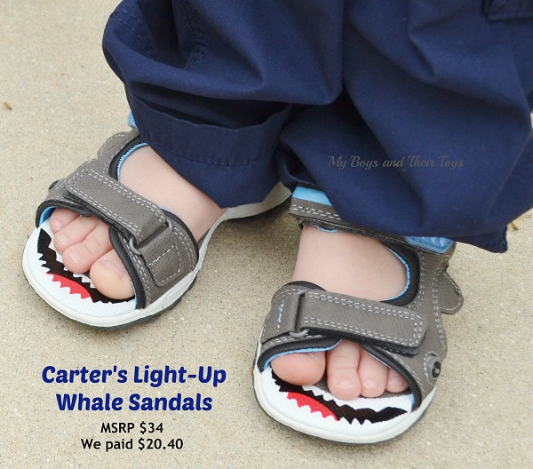 whale sandals