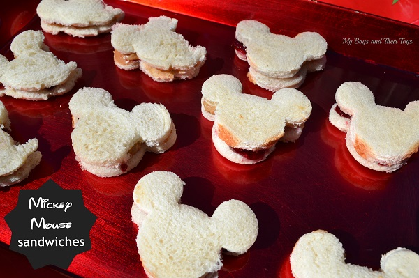 Mickey Mouse sandwiches