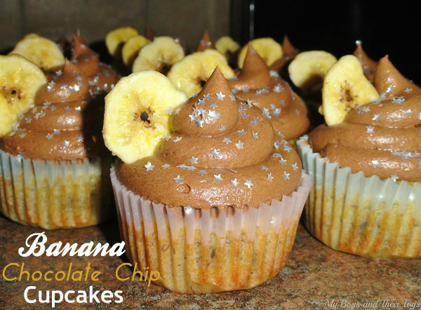 Banana Chocolate Chip Cupcakes Buttercream Frosting