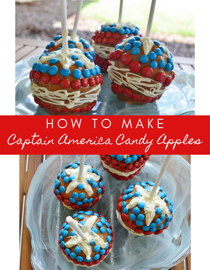 captain america candy apples