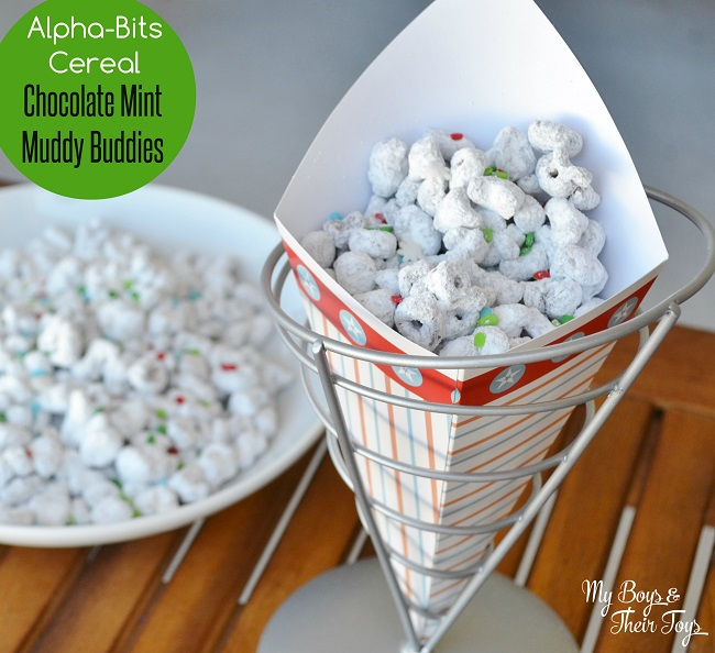 Alpha-Bits Chocolate Mint Muddy Buddies