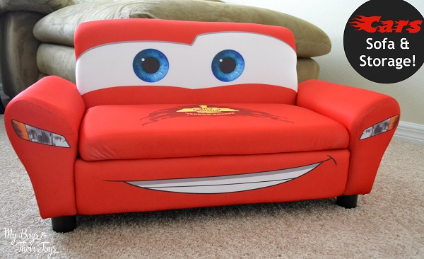 lightning mcqueen sofa - Lightning McQueen Sofa With Storage Review - My Boys And Their Toys