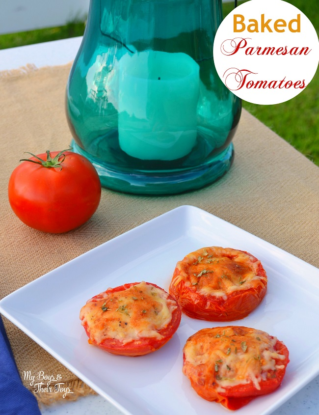 Baked Parmesan Tomatoes Recipe - My Boys and Their Toys