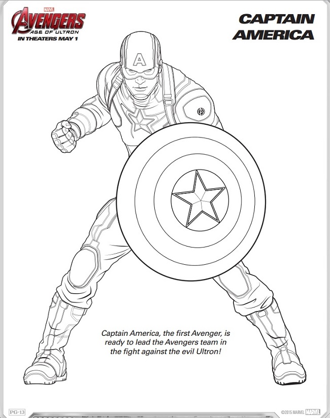 Avengers: Age of Ultron Coloring Sheets + Trailer - My Boys and ...