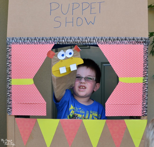 DIY puppet theater and animals