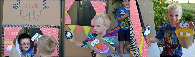 how to make a puppet show