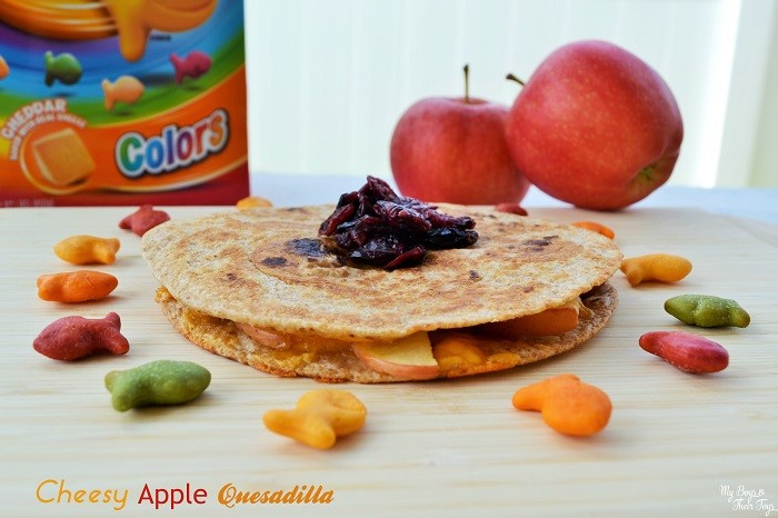 cheesy apple quesadilla