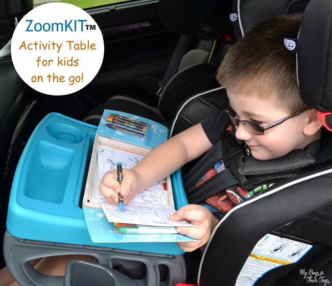 if youre little one joins you on the go this activity table is for them zoomkit is a lightweight kids activity table that fits car seats strollers