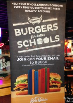 Red Robin burgers for school