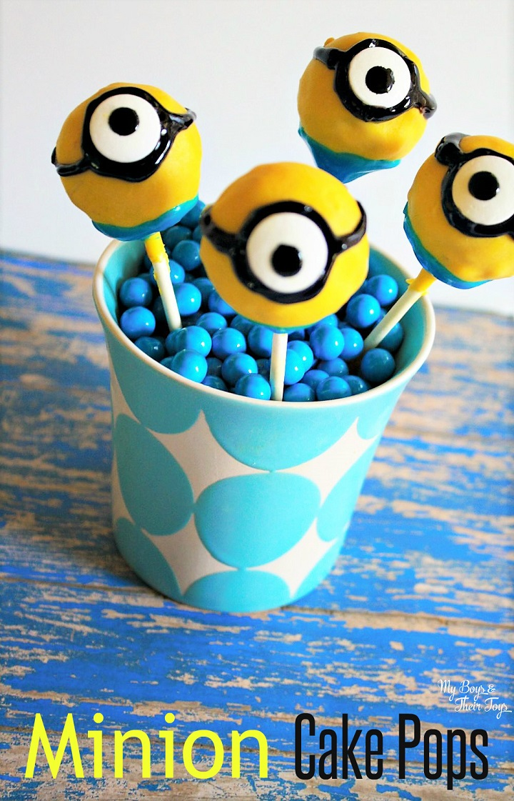 Images Of Minion Cake Pops : Minion Cake Pops - My Boys and Their Toys