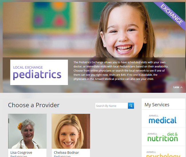 online doctor visits with amwell telehealth services