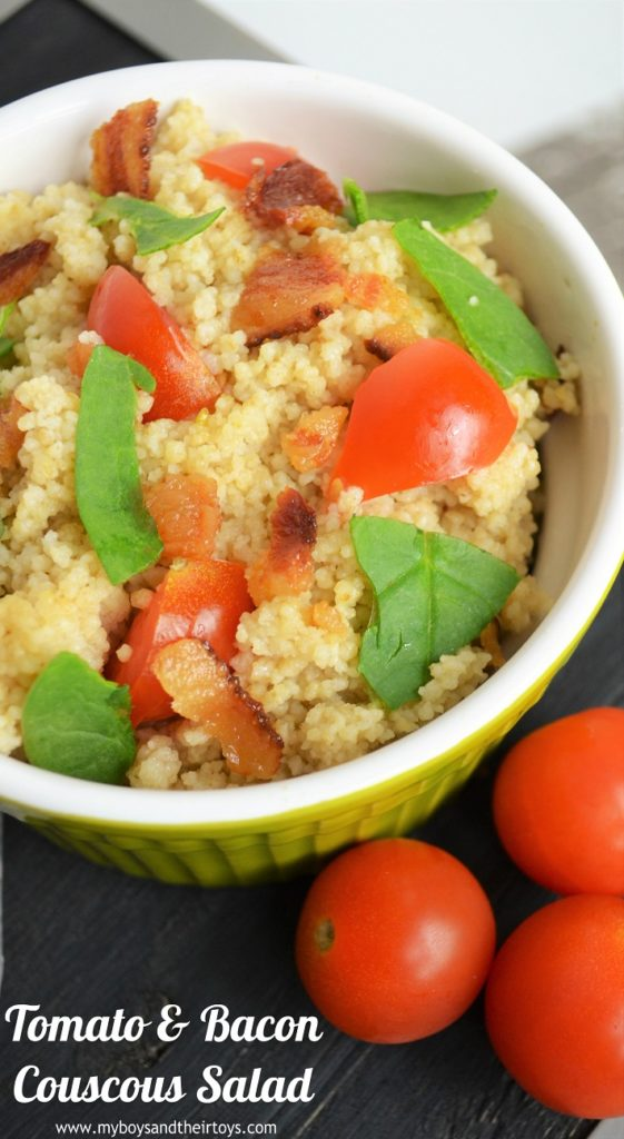 tomato and bacon couscous salad