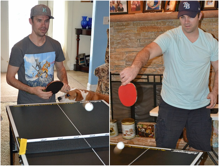ping pong with family