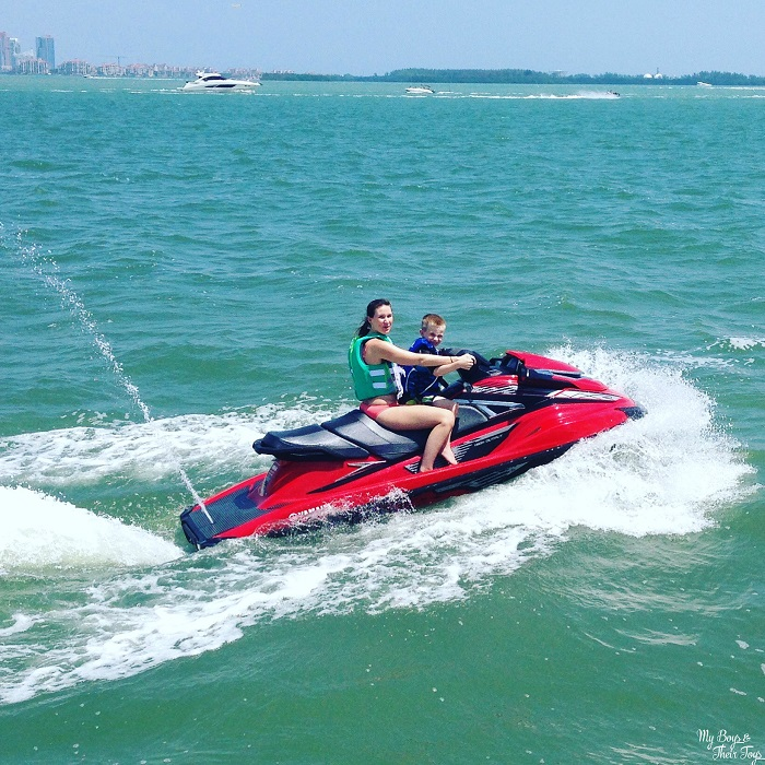 Jet skiing The Puddle Jumpers/Coleman Outdoor Press Trip in South Beach, Florida!