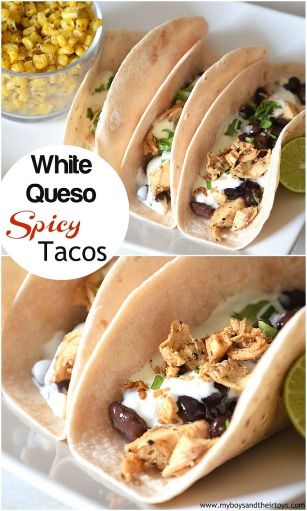 White Queso Spicy Tacos