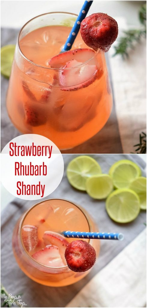 Strawberry Rhubarb Shandy pin