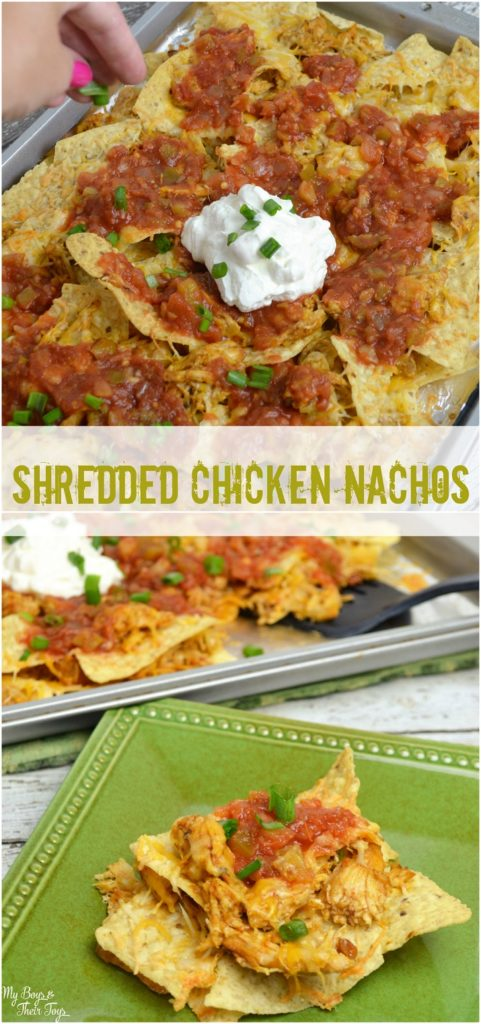 shredded chicken nachos