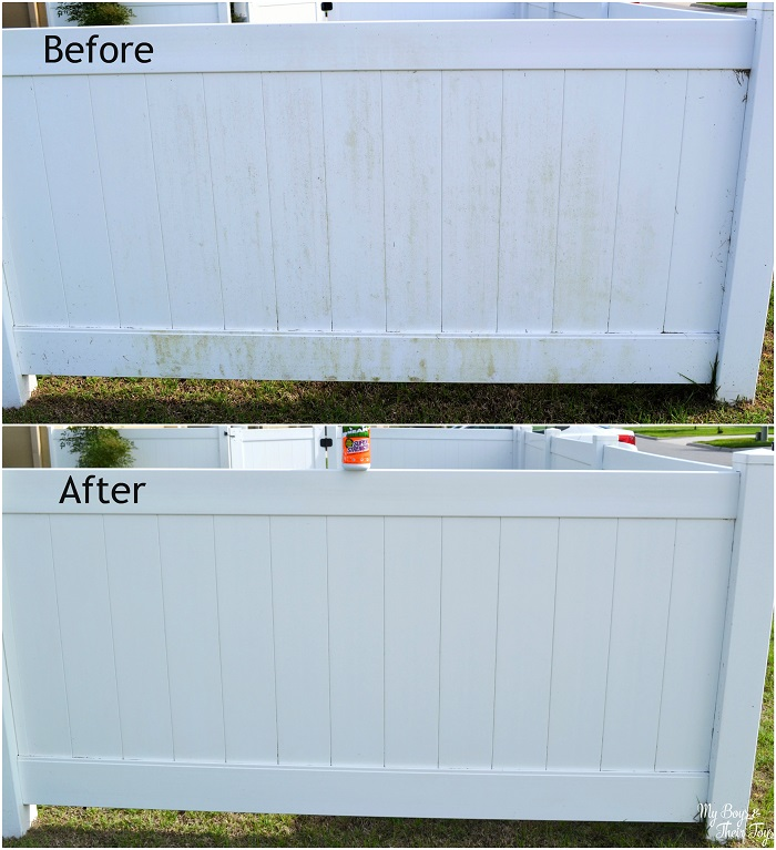 How To Clean A Vinyl Fence Quickly My Boys And Their Toys