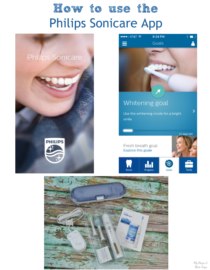 how to use the philips sonicare app with flexcare toothbrush