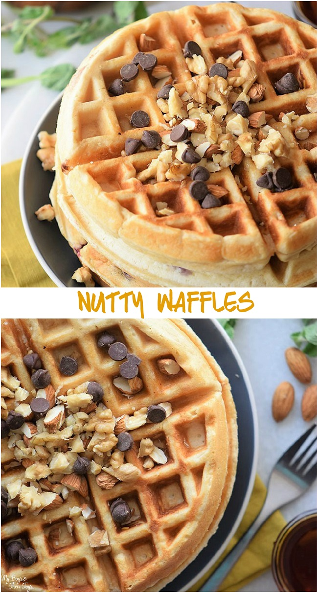 nutty homemade waffles