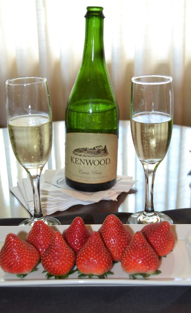 strawberries and champs