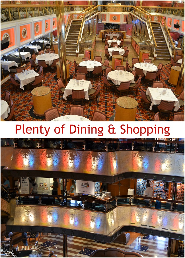 dining and shopping