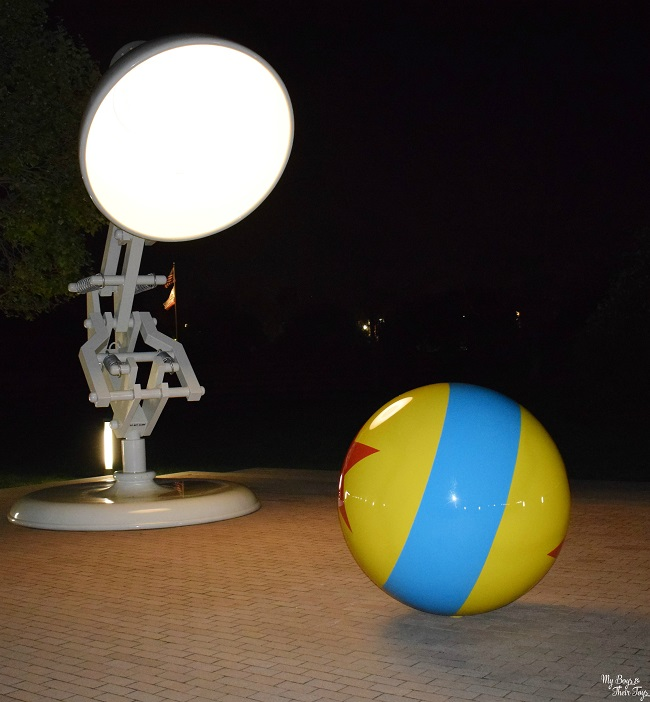 Pixar ball at night