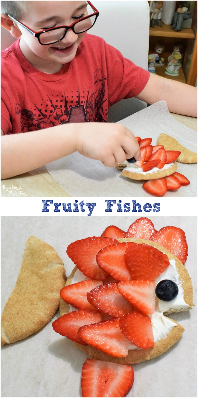 fruity fish pizzas