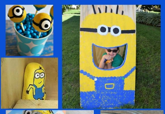 DIY Bean Bag Toss Game + Other Minion Party Ideas!
