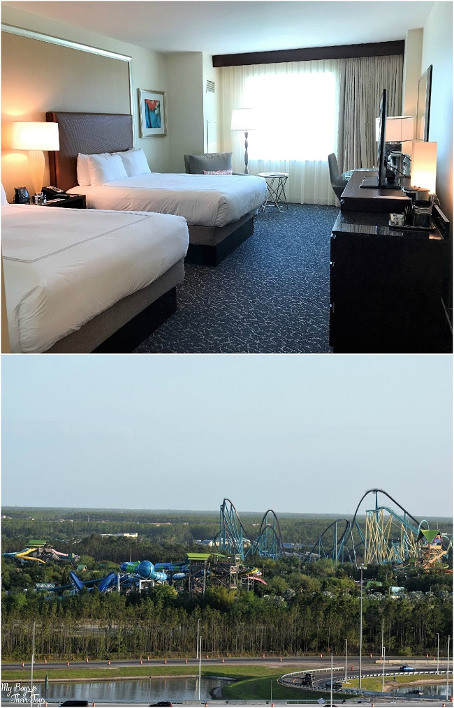 hotel room and view