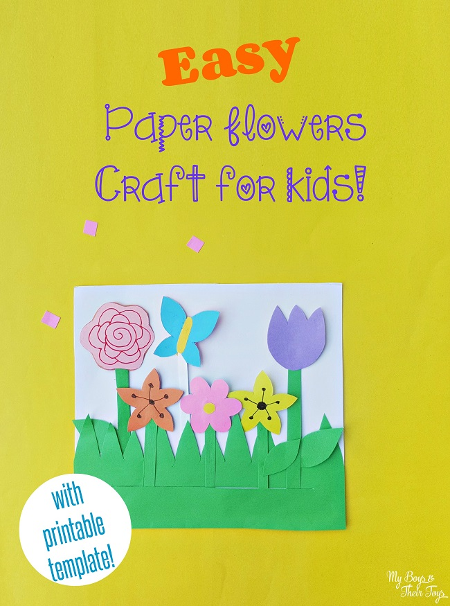 Easy Paper Flowers Craft For Kids My Boys And Their Toys