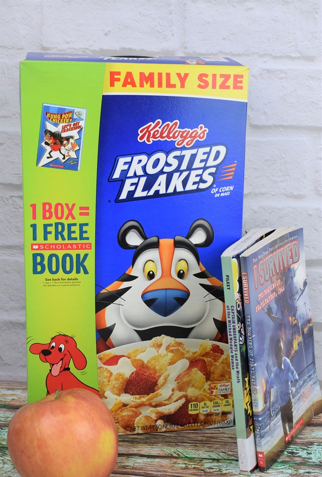 scholastic books family size frosted flakes