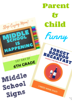 middle school signs