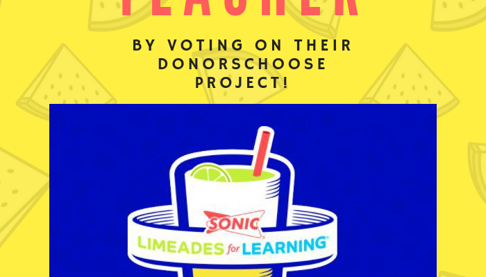 Help a Teacher with SONIC's Limeades for Learning Contest!