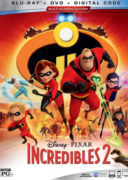 incredibles 2 dvd bluray