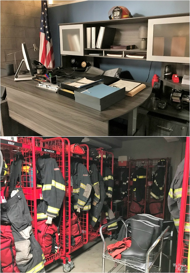 station 19 set visit collage