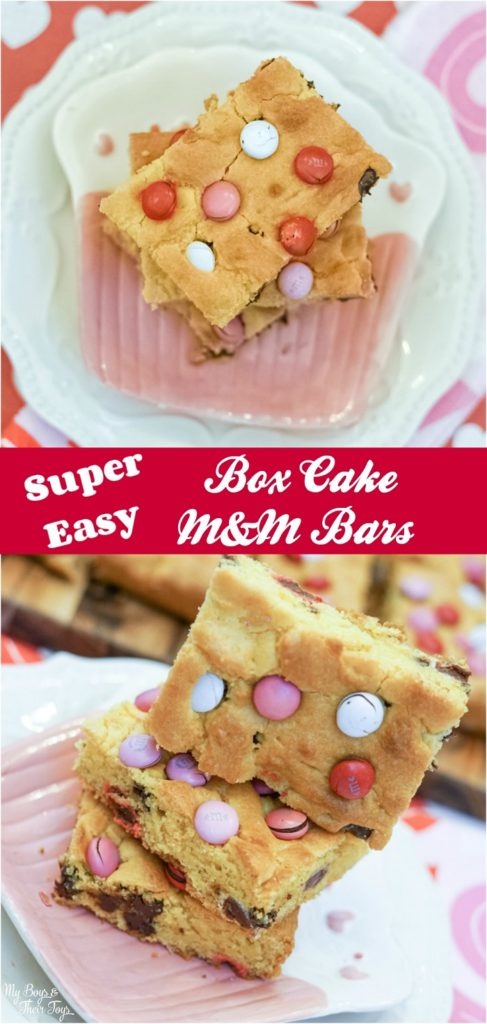 box cake M&M bars recipe