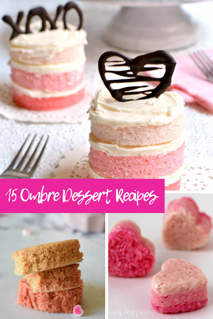 ombre desserts for parties