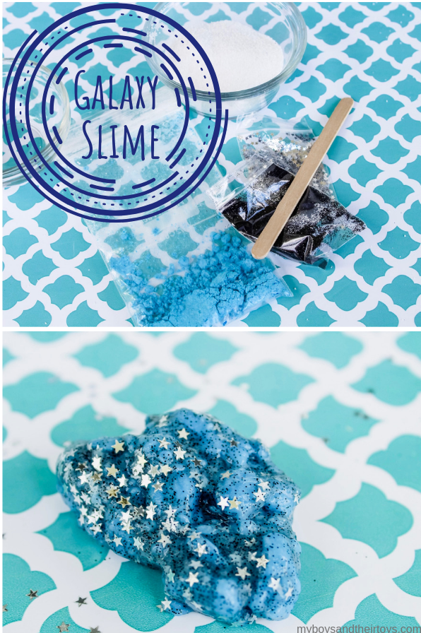 make galaxy slime