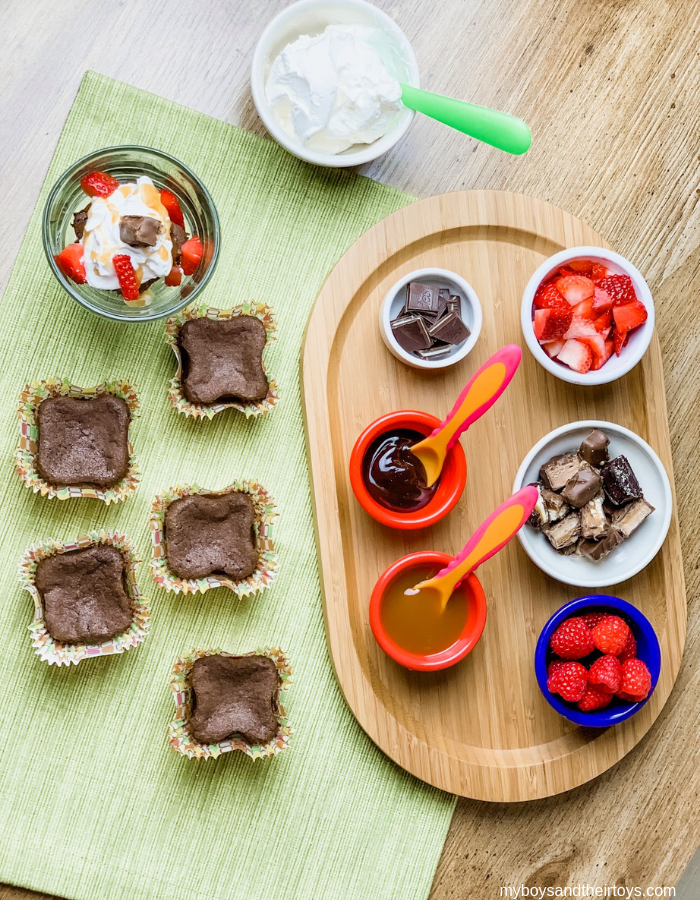 easy brownie toppings bar