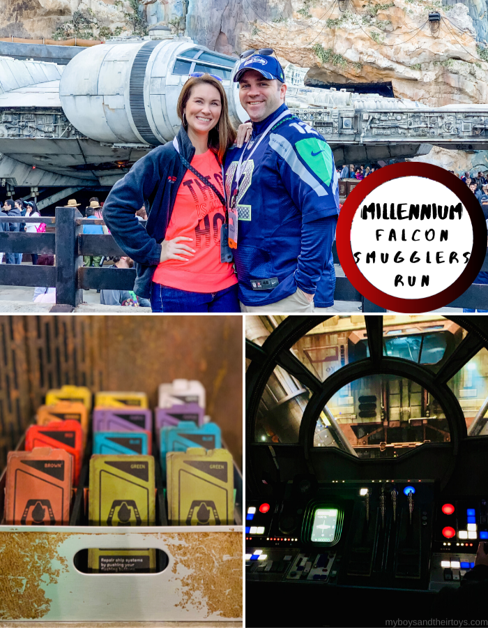 Star Wars Rides at Disney World Galaxy's Edge Millennium Falcon