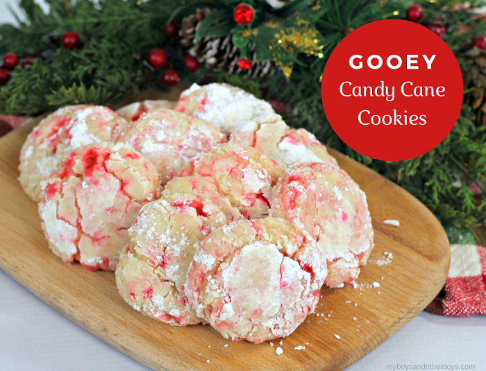 gooey candy cane cookies
