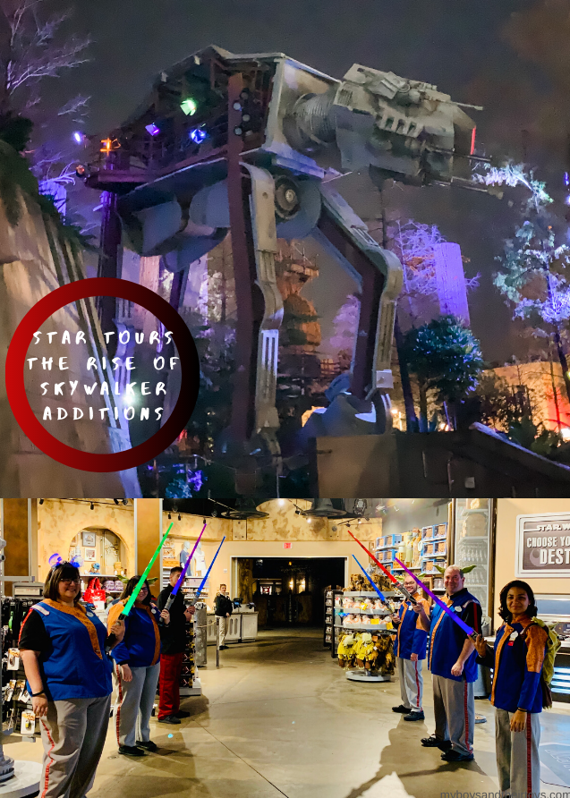 Star Wars Rides at Disney World star tours rise of skywalker