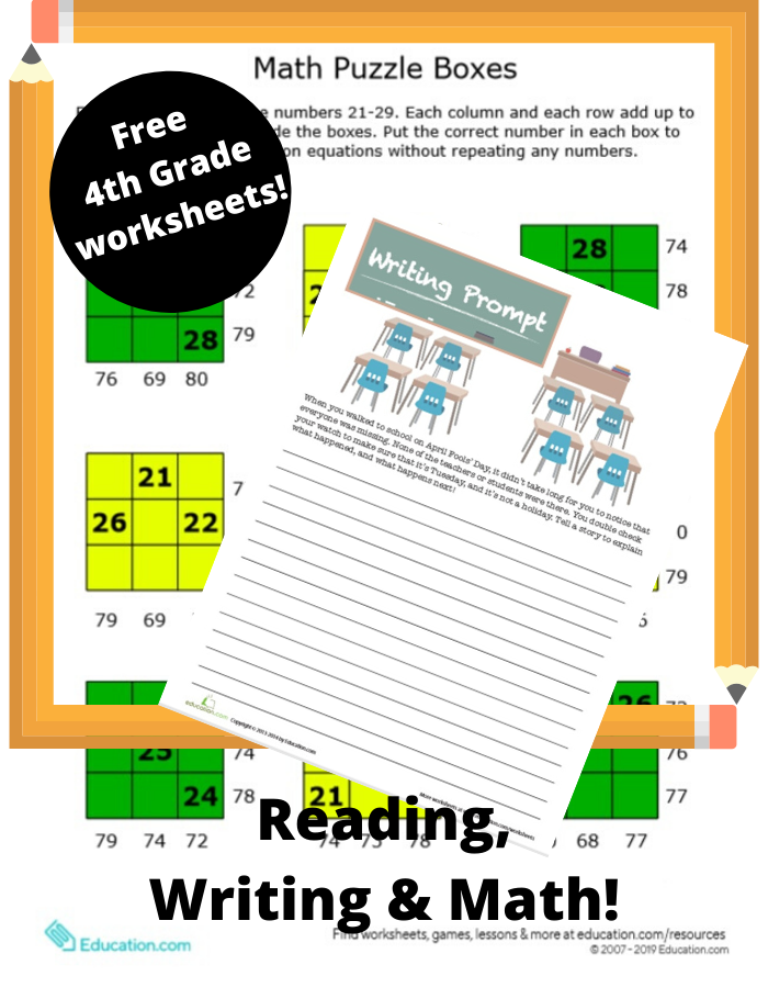 Free Printable 4th Grade Worksheets - My Boys And Their Toys