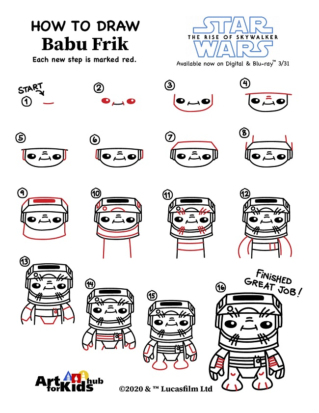 how to draw babu frik