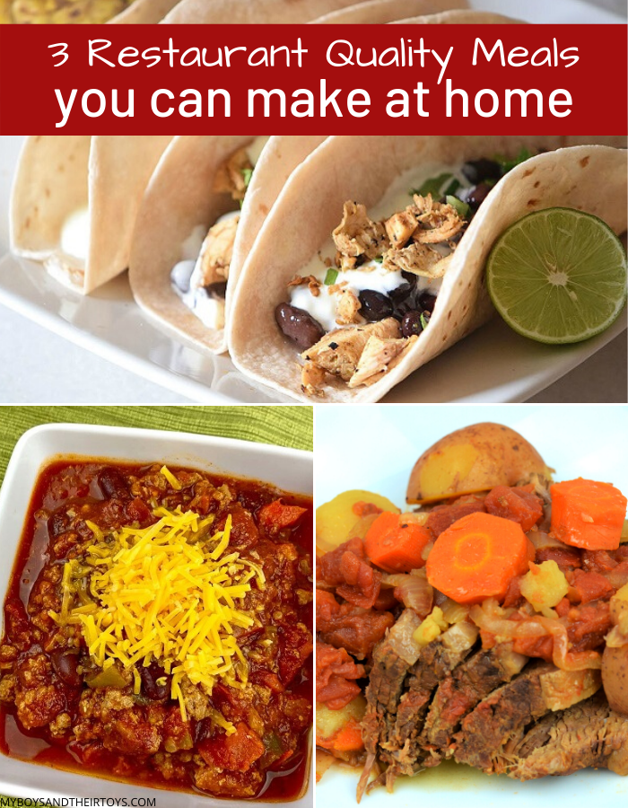 restaurant quality meals at home